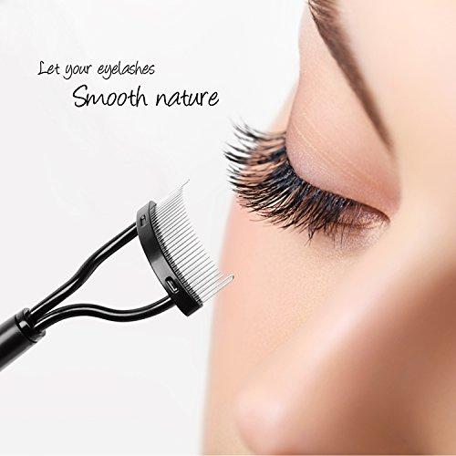 85728aa9c8e Docolor Eyelash Comb Curlers Makeup Mascara Applicator Eyebrow Grooming  Brush Tool