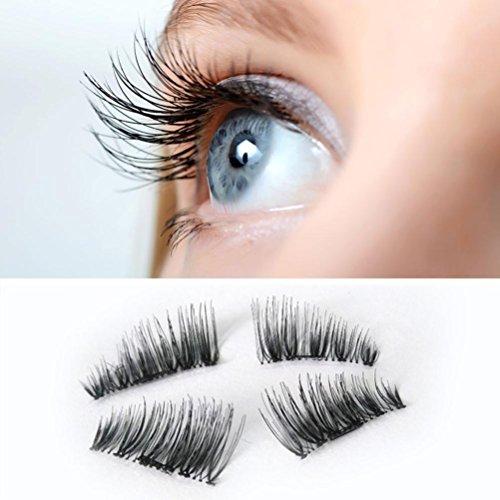 LandFox Ultra-thin 0.2mm Magnetic Eye Lashes 3D Reusable False Magnet Eyelashes Extension