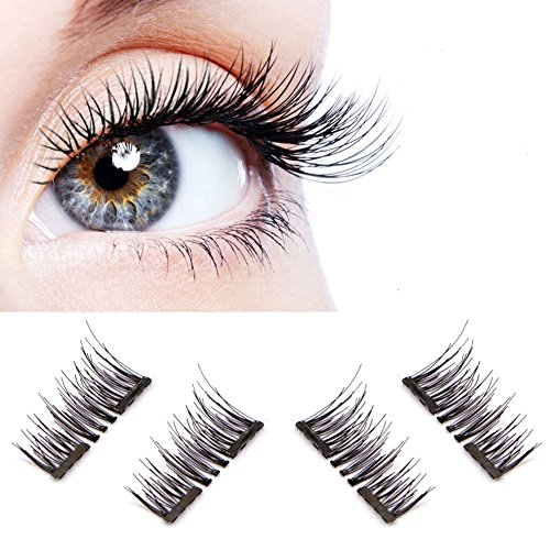3529d963c26 3D Reusable fashionable Black and Brown color False Magnetic Eyelashes  Ultra thin no glue needed for natural longer thicker eyelash look by Vena  Beauty
