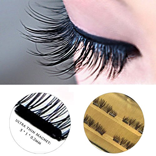 10527bdd07d 3D Reusable fashionable Black and Brown color False Magnetic Eyelashes  Ultra thin no glue needed for natural longer thicker eyelash look by Vena  Beauty