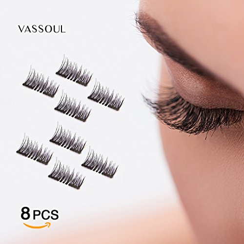 7b03c08da85 Use these 3d magnetic false eyelashes to create the most charming eyes,  Handmade, and the perfect makeup. 3, through the principle of the magnet,  ...