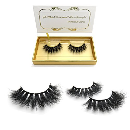 d220f02dbc5 100% Siberian 3D Mink Fur False Lashes HandMade Wispy Natural Thick  Reusable Mink Fake Eyelashes