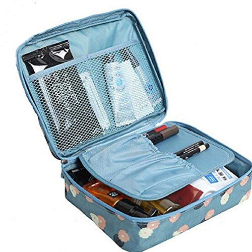f67122e2c3d6 JIARUO Multi-function Makeup Cosmetic Bag Toiletry Travel Kit Organizer