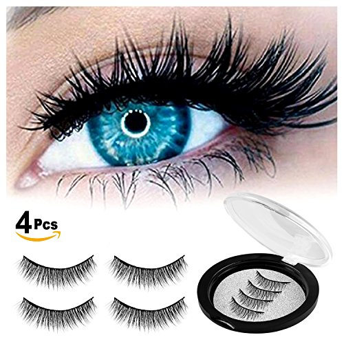 9ba83dea26e Glue free & magnetic design -- innovative dual magnetic design, won't cause  irritation to your eyes or cause damage to your natural eyelashes.