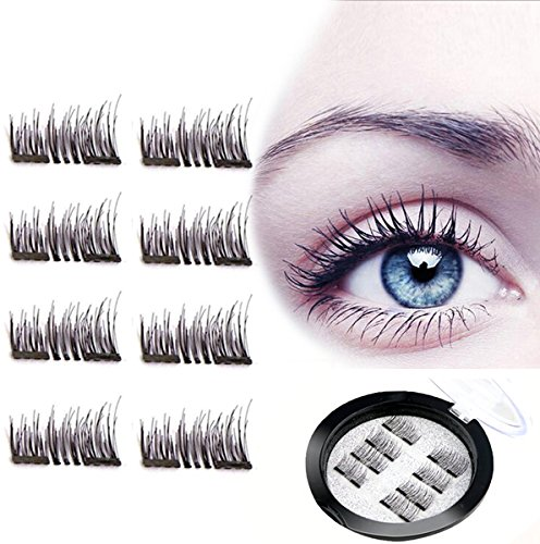 450c48b1e94 Magnet Eyelashes-Dual Magnetic False Eyelashes with NO GLUE 3D Fiber  Reusable Best Fake Lashes Extension for Natural Look,Perfect for Deep Set  Eyes -2 ...