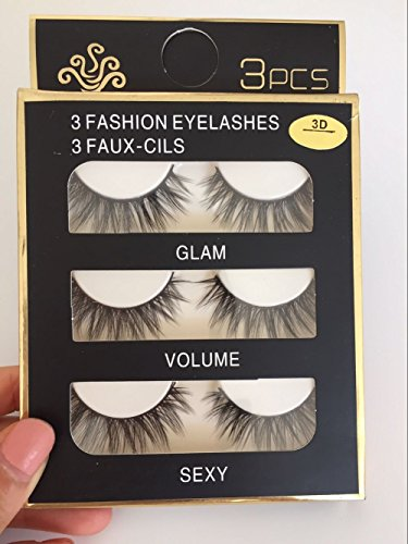 7ae84aaac7a Trcoveric 3D Fake Eyelashes Makeup Hand-made Dramatic Thick Crisscross  Deluxe False Lashes Black Nature Fluffy Long Soft Reusable 3 Pair Pack