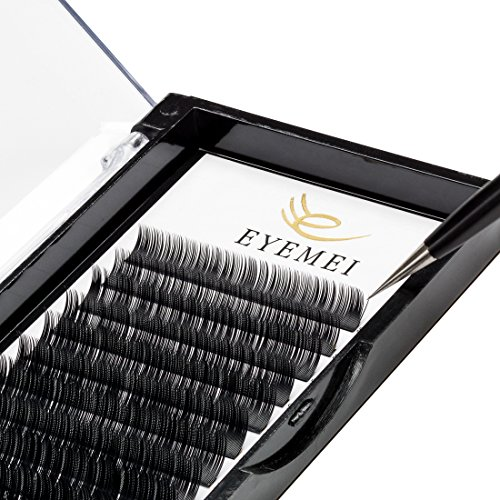 e4d5f47cc14 Eyelash Extensions 0.20 C Curl Natural Thick Individual Lashes Faux Mink Eyelash  Extensions 8-14mm 8 Sizes in 1 Mixed Tray by EYEMEI