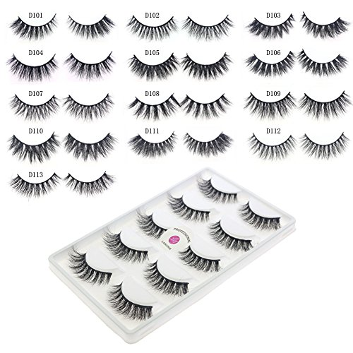 8bc1d9a0922 Free from chemical treatment &hypo-allergenic &Cruelty-free Package  includes: 5 x pairs of mink false eyelashes No glue with eyelash.
