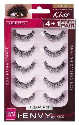 81e3e16baf9 Kiss i envy au naturale 08 false lashes Value Pack 5-Count - Suitable For  Contact Lens Wearer. Suitable for Contact Lens Wearer. 100% human Hair.