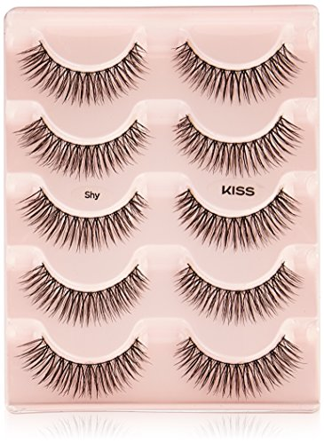 e4666425a80 Kiss Products Looks so Natural Multipack, 01 Shy. Tapered end technology.  Contact lens friendly. America's Lash Experts.