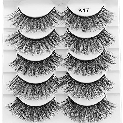 e41ad653fd4 Mixed 3D Mink Hair False Eyelashes Full Strips Thick Cross Long Lashes Wispy  Fluffy Eye Makeup Tools5 Pairs